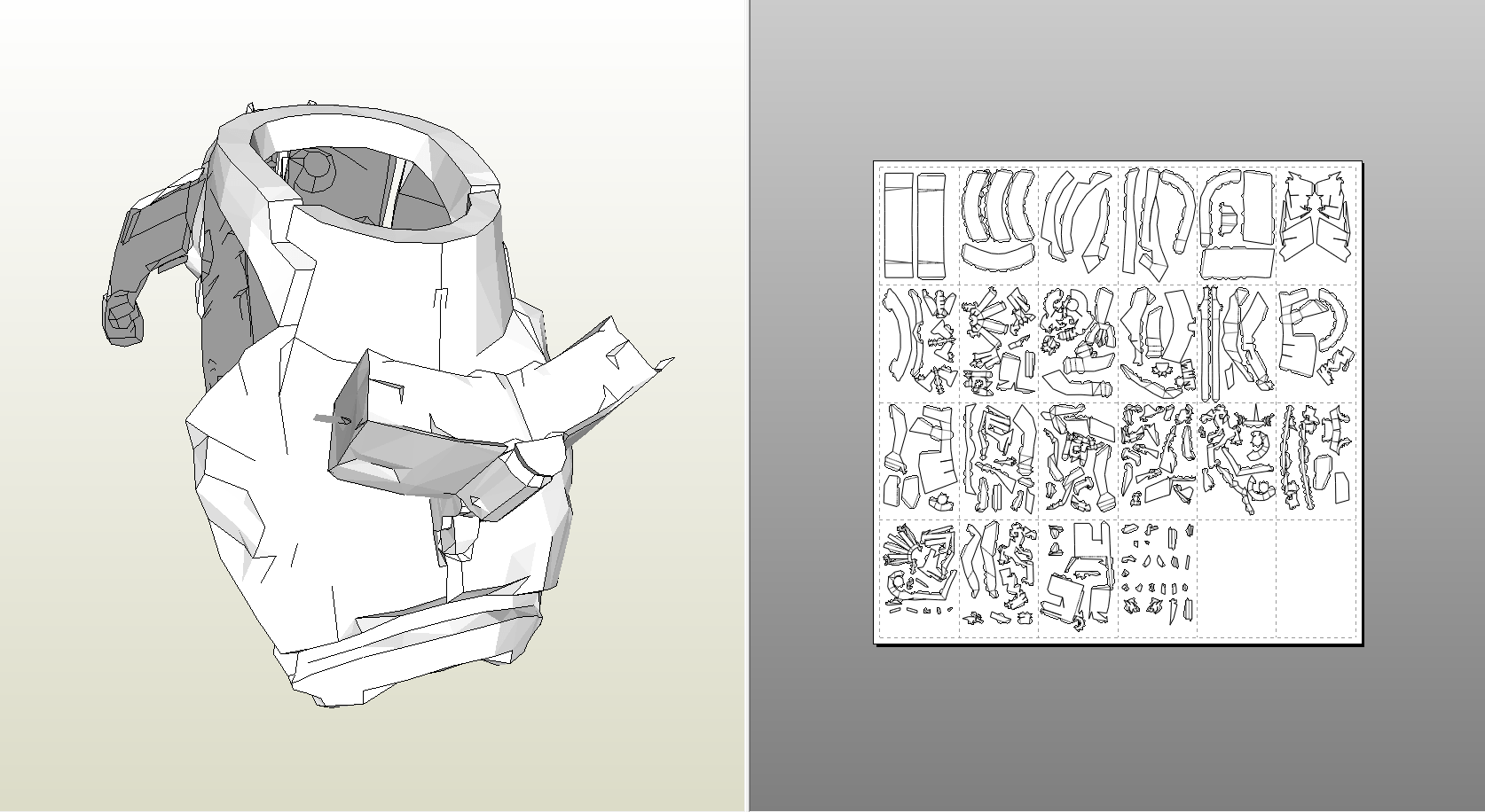 Papercraft .pdo File Template For Dead Space 2