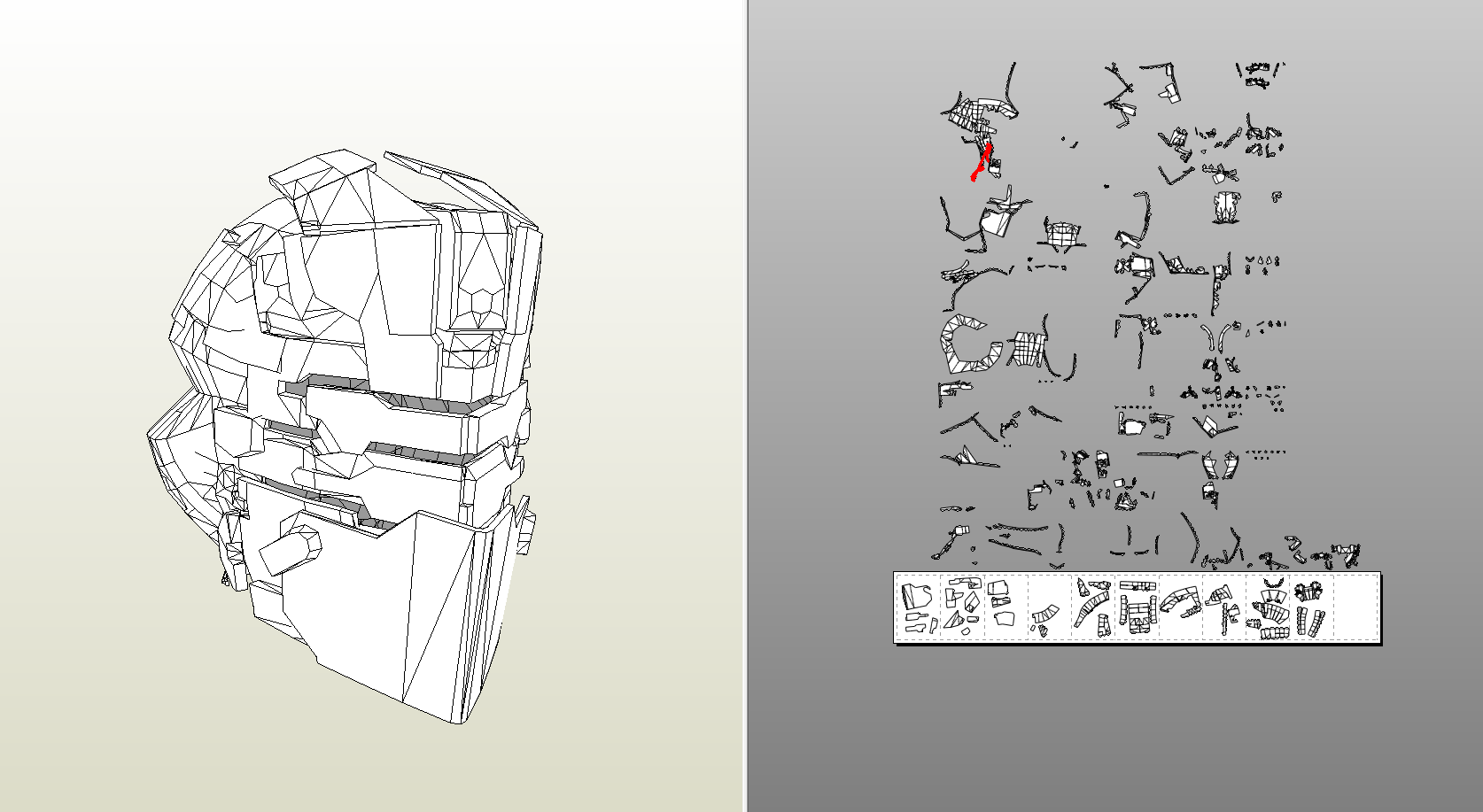 Papercraft .pdo File Template For Dead Space