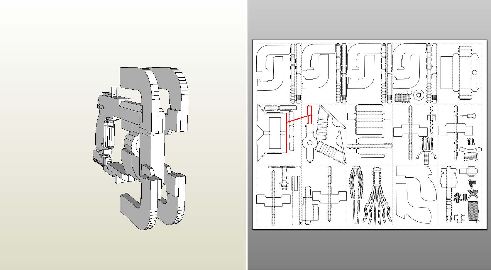 Papercraft pdo file template for deadspace plasma cutter plasmacutter pooptronica Image collections