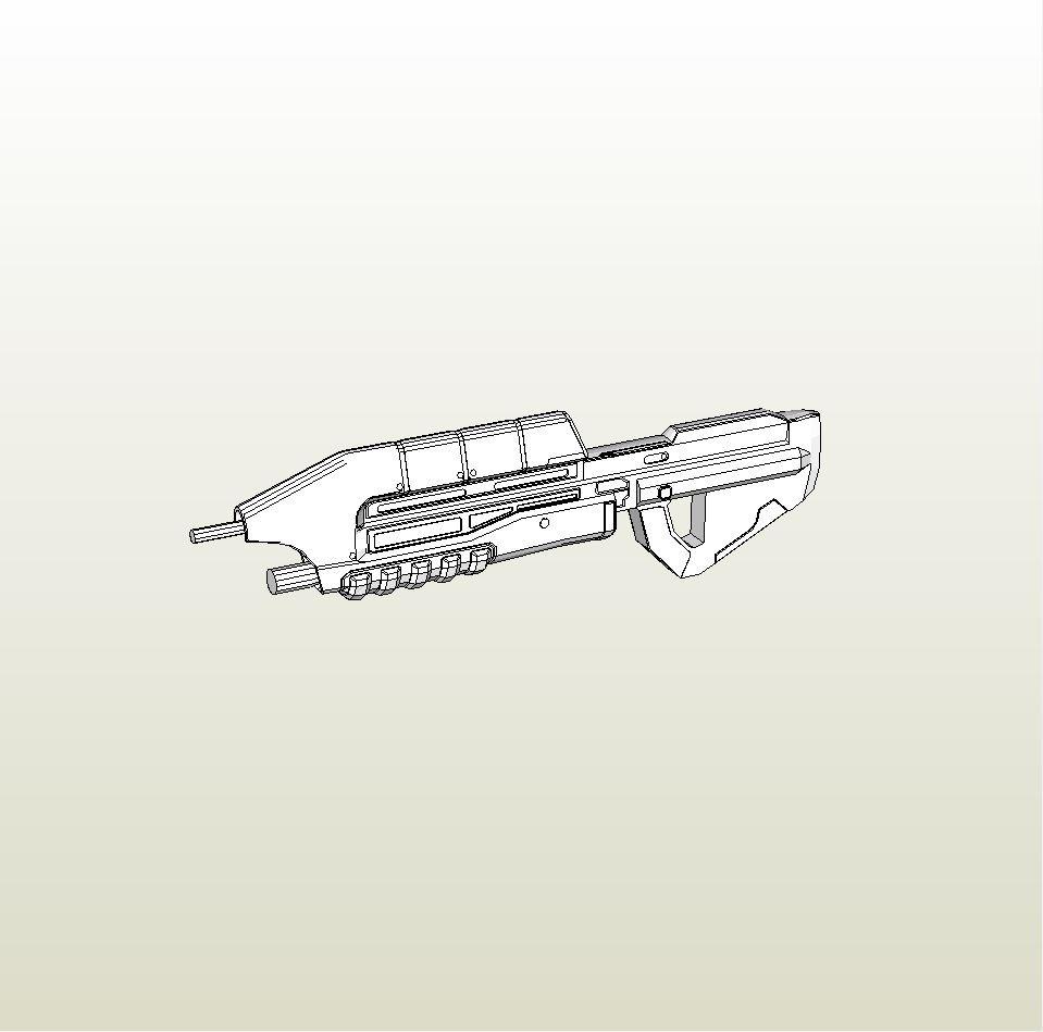how to make a halo assault rifle