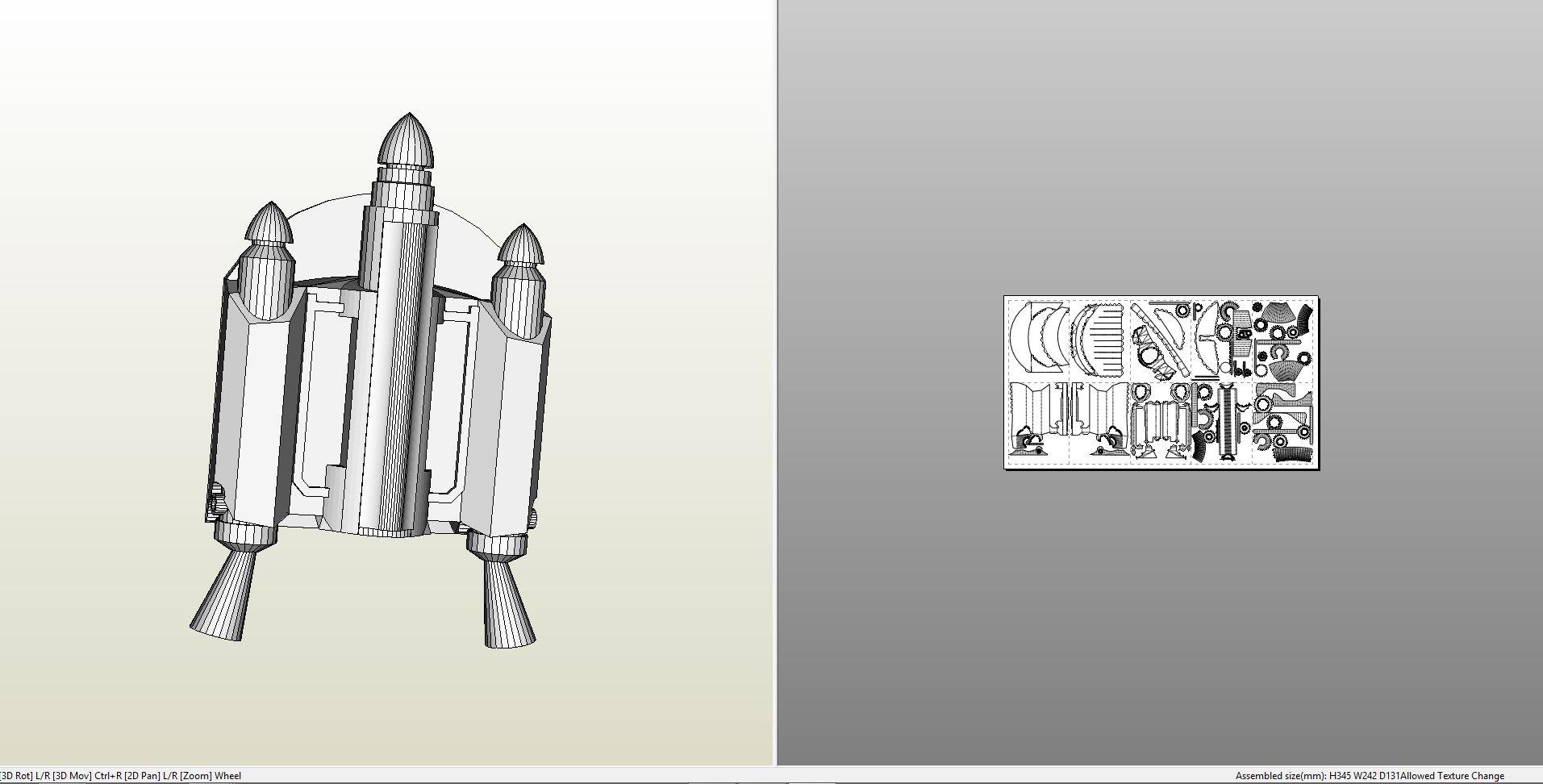 Papercraft Pdo File Template For Star Wars Clone Wars Bo Katan Jetpack