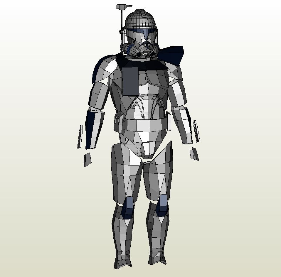 Papercraft Pdo File Template For Star Wars Clone Wars