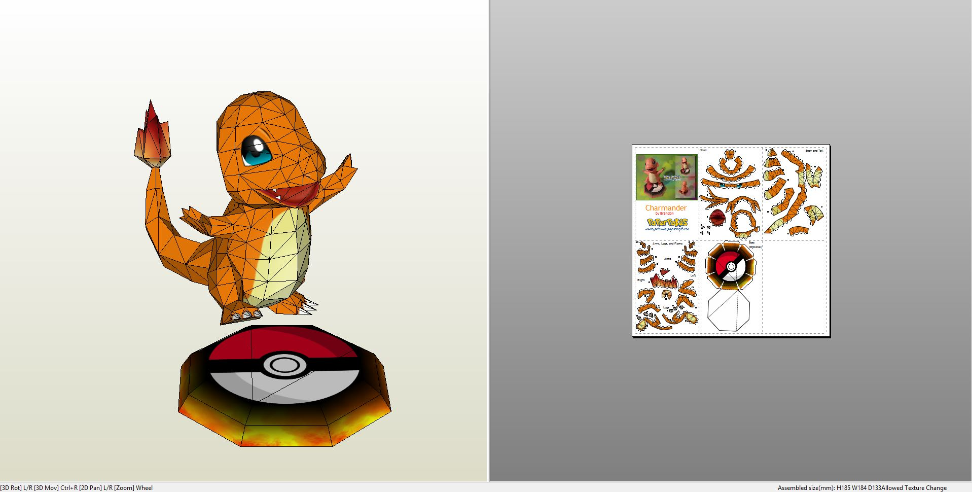 Papercraft Pdo File Template For Pokemon