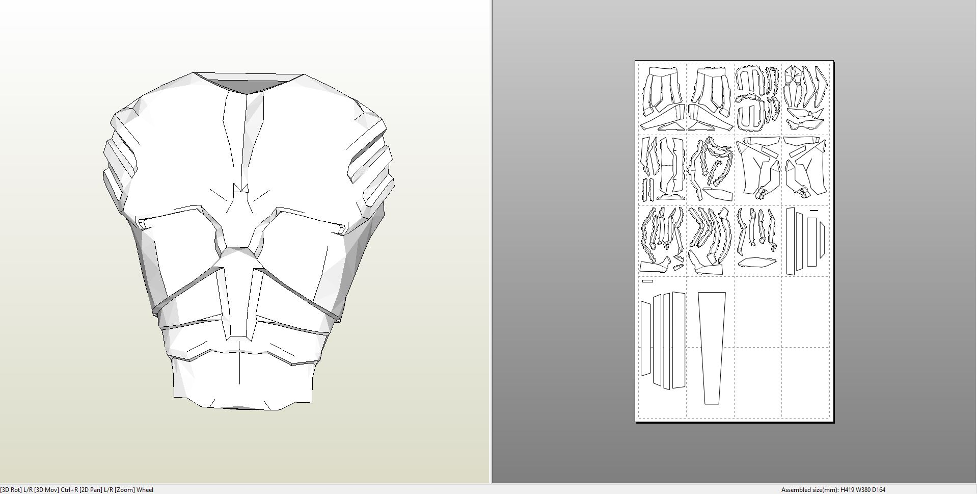 Papercraft  pdo file template for Batman – Desert Storm Full