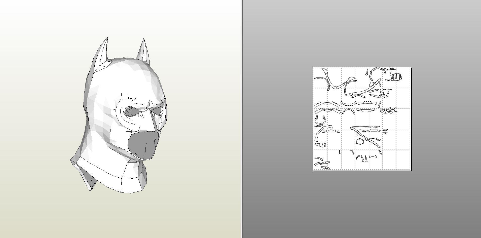 papercraft pdo file template for batman desert storm full armor