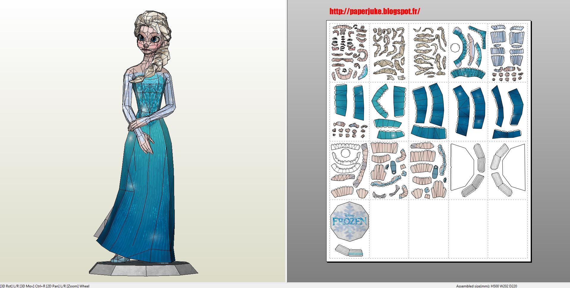 Papercraft Pdo File Template For Frozen