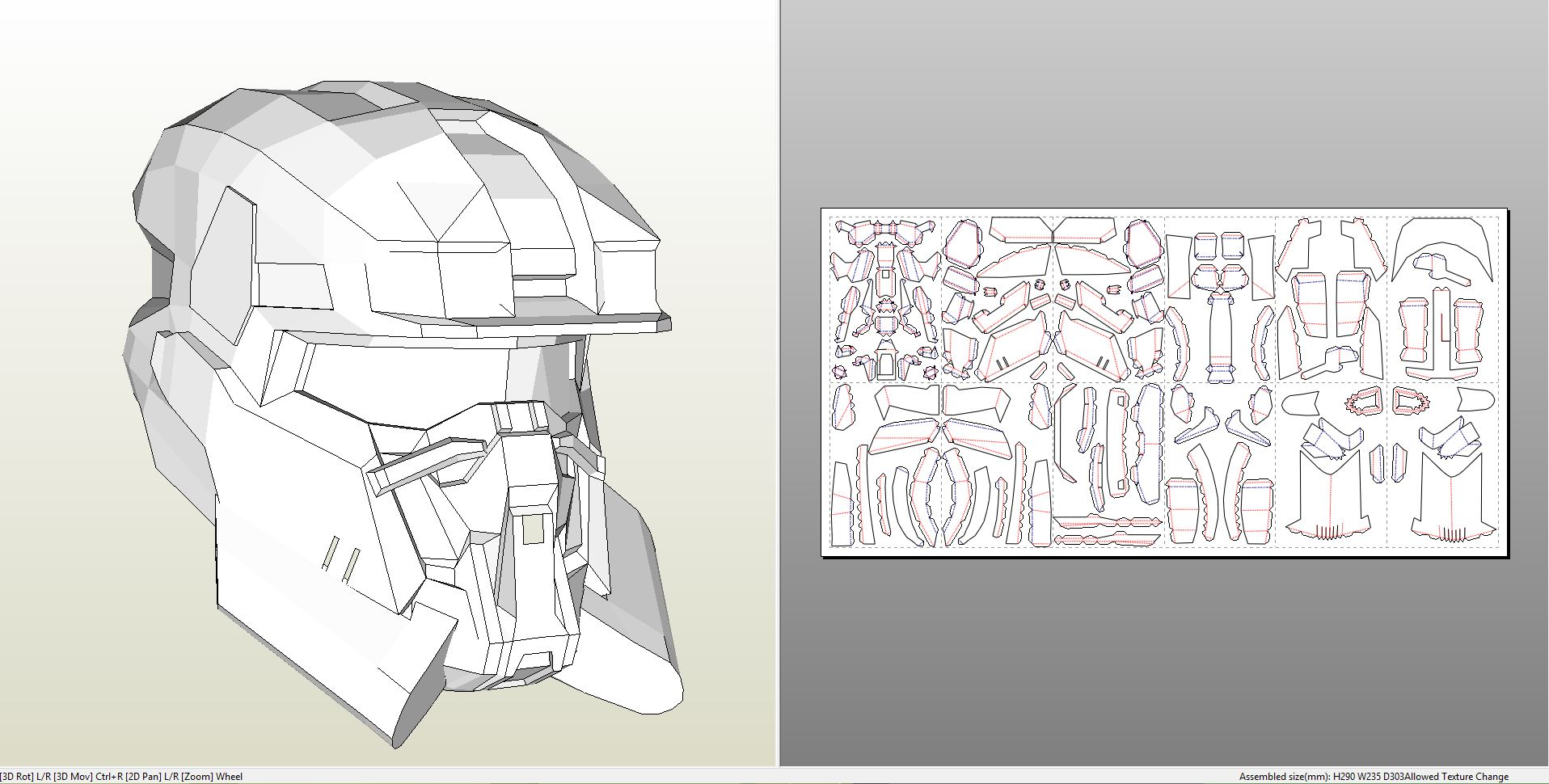 Papercraft pdo file template for halo reach eod helmet eodhelmet pronofoot35fo Image collections