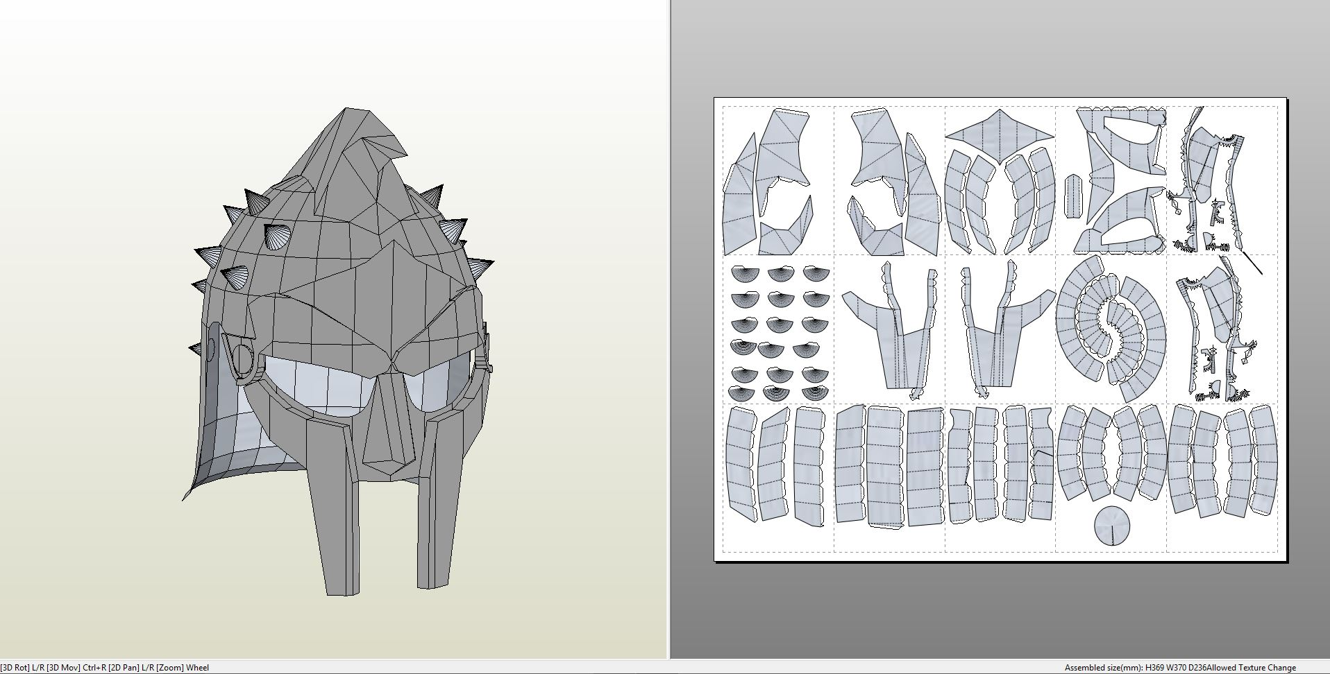 Papercraft pdo file template for gladiator maximus helmet gladiator pronofoot35fo Image collections