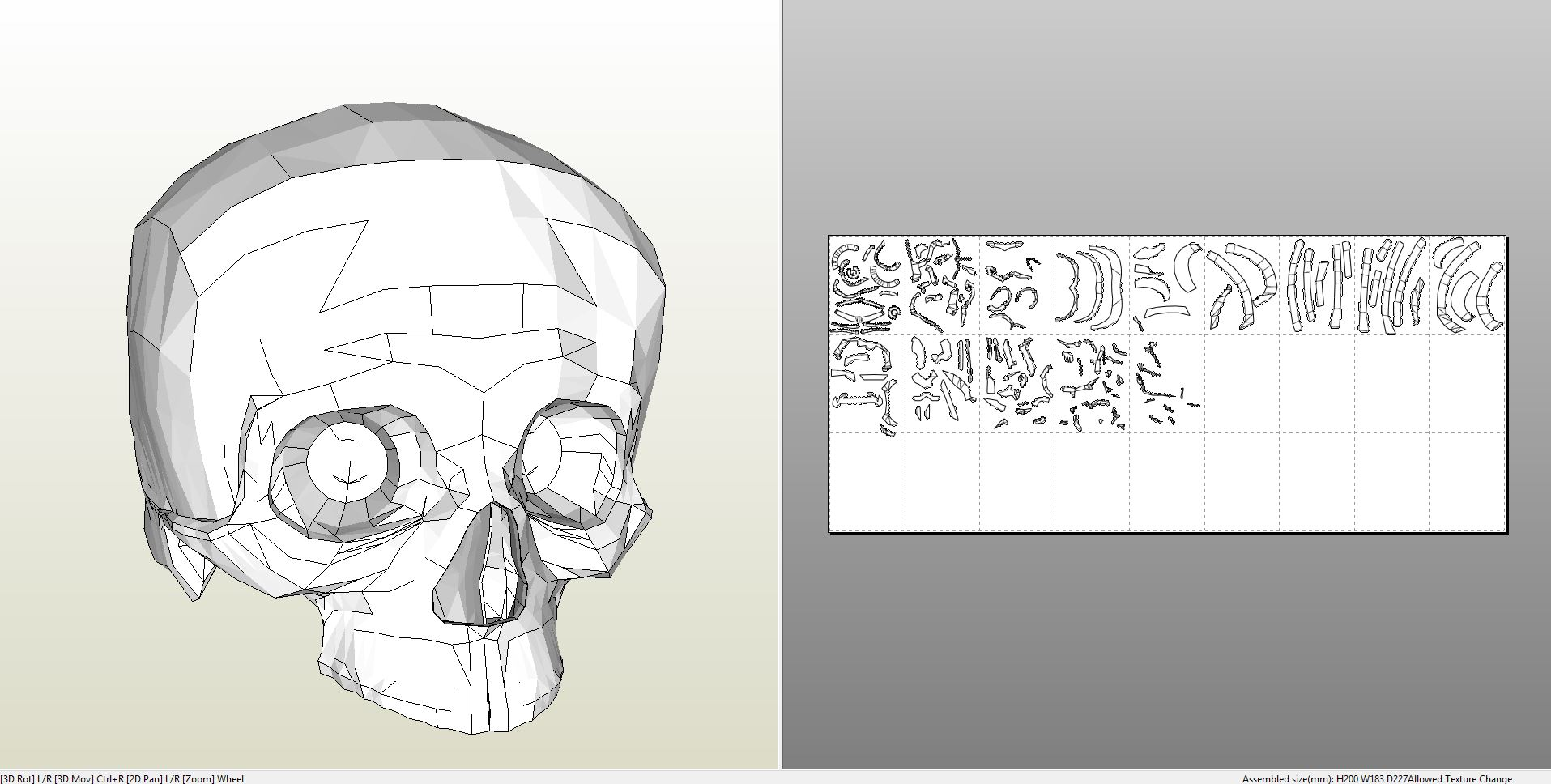 Papercraft Pdo File Template For Human Skull