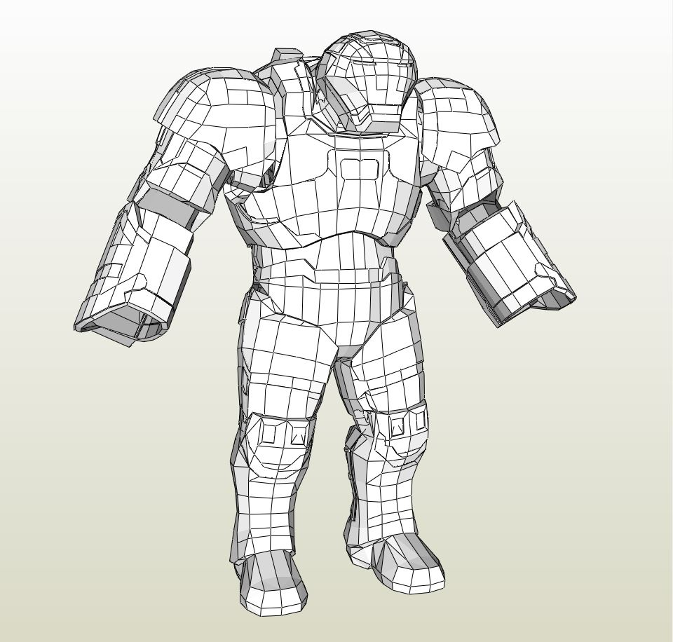 Papercraft pdo file template for iron man mark 38 igor for Iron man suit template