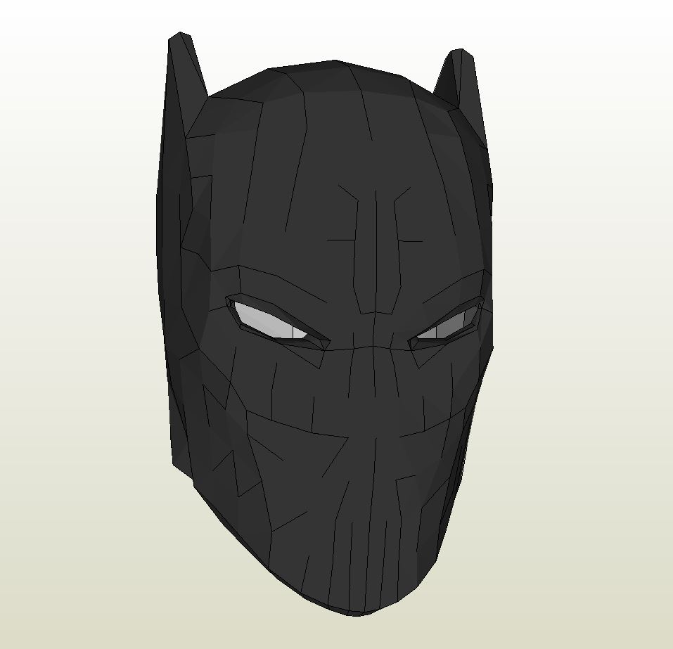 Papercraft .pdo file template for Black Panther - Mask.