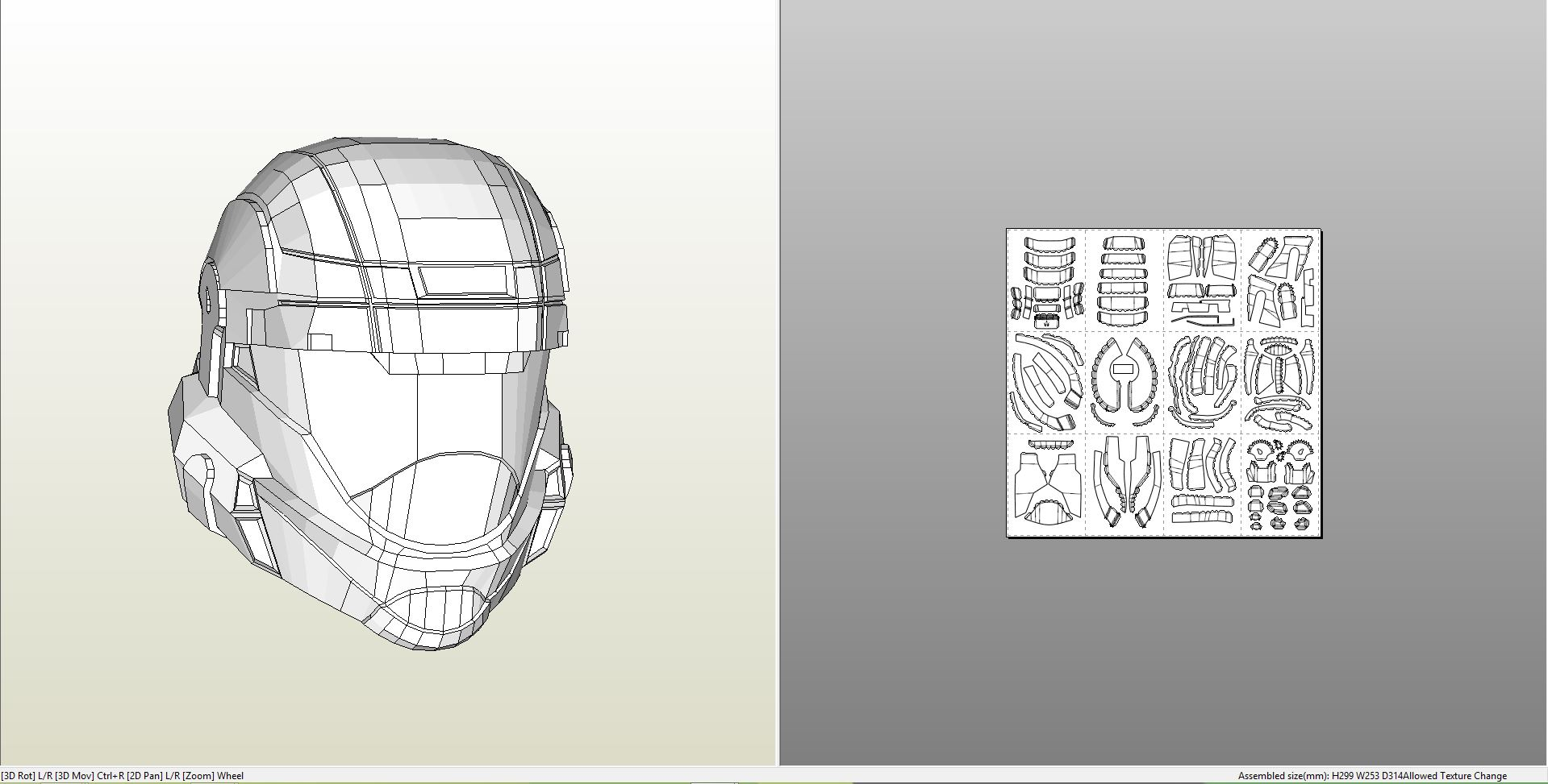 Papercraft pdo file template for halo odst master chief helmet masterhelm pronofoot35fo Image collections
