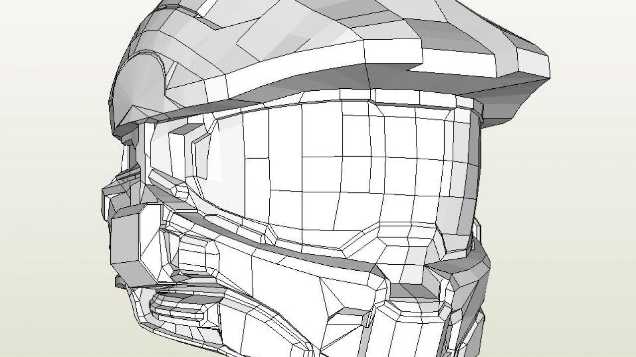 Papercraft Pdo File Template For Halo 4 Masterchief Helmet