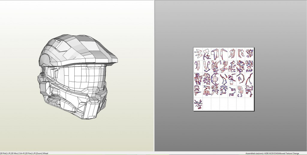 Papercraft Pdo File Template For Halo 4 Masterchief Helmet