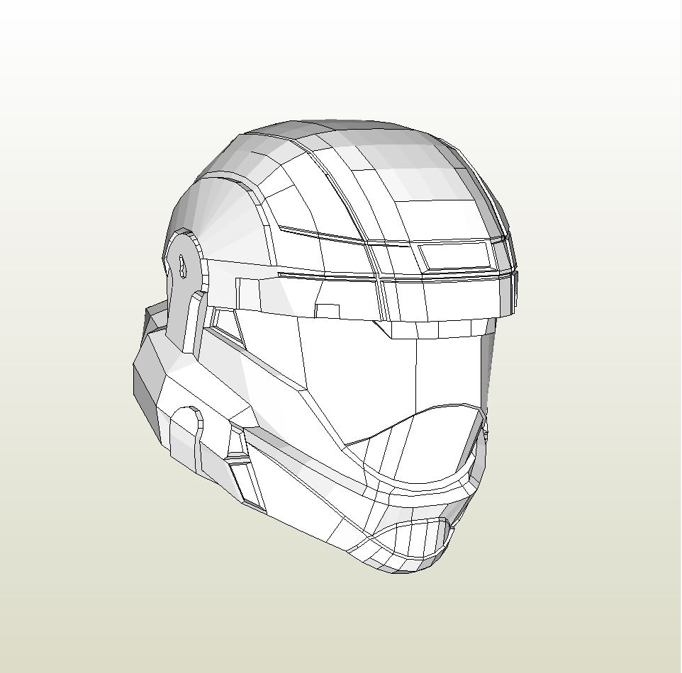 Papercraft  pdo file template for Halo ODST – Master Chief