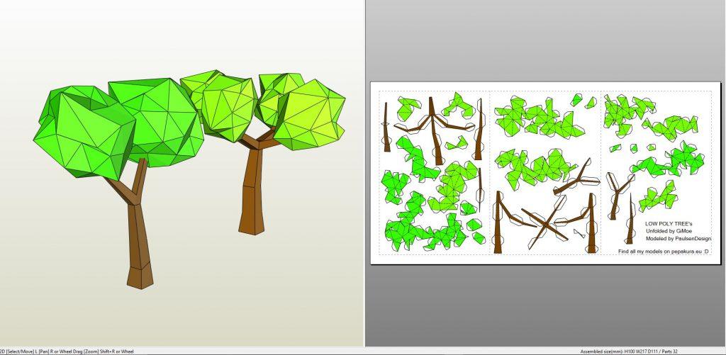 naturelowpolycartoontree