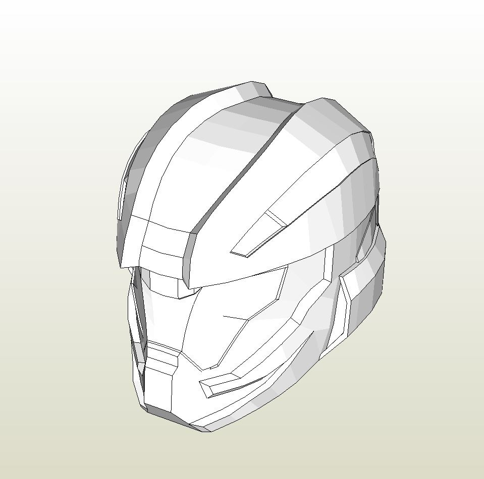 papercraft pdo file template for halo 4 recruit helmet foam. Black Bedroom Furniture Sets. Home Design Ideas