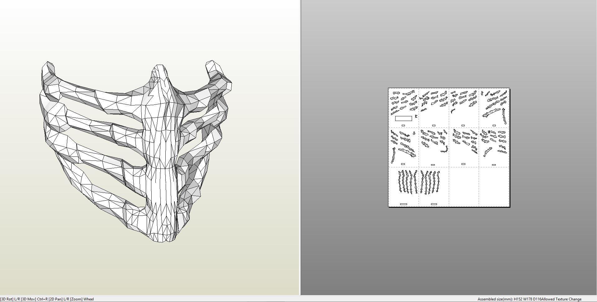 Papercraft Pdo File Template For Mortal Kombat Scorpion Dcu Mask