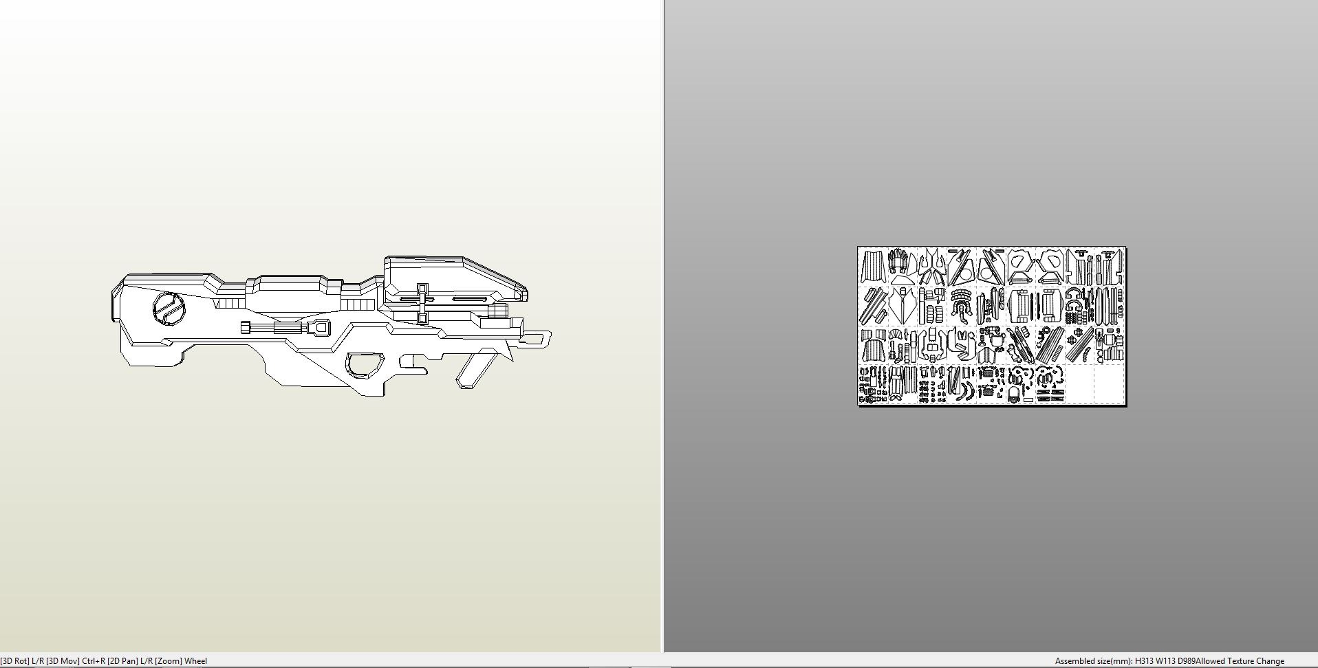 Papercraft .pdo file template for Halo 4 - Spartan Laser.