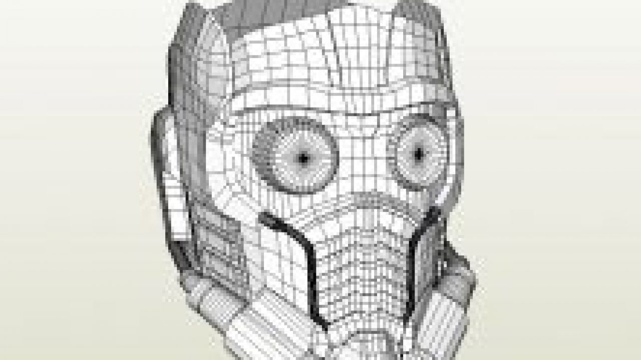 Papercraft Pdo File Template For Guardians Of The Galaxy Starlord