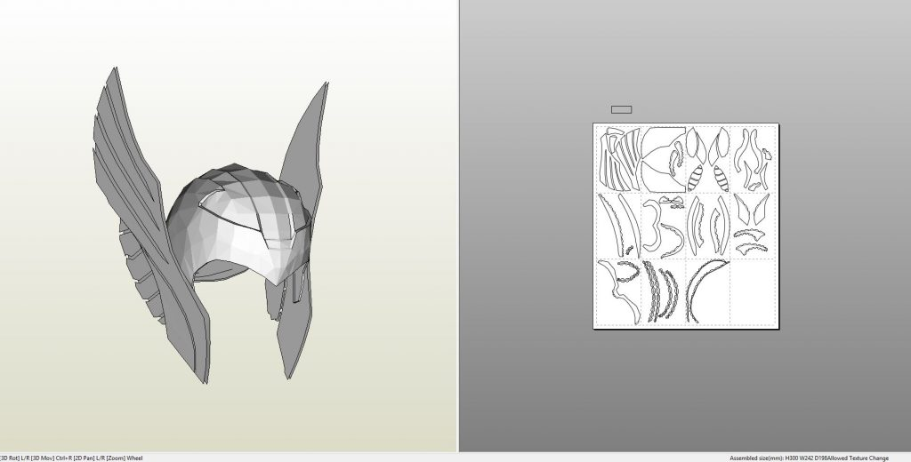 Papercraft pdo file template for thor movie helmet thorhelm maxwellsz