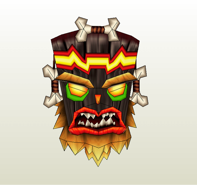 Papercraft  Pdo File Template For Crash Bandicoot