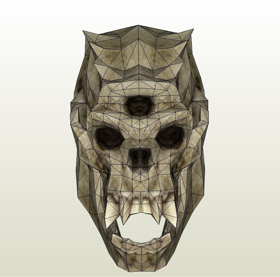 Papercraft  pdo file template for Skyrim – Troll Head