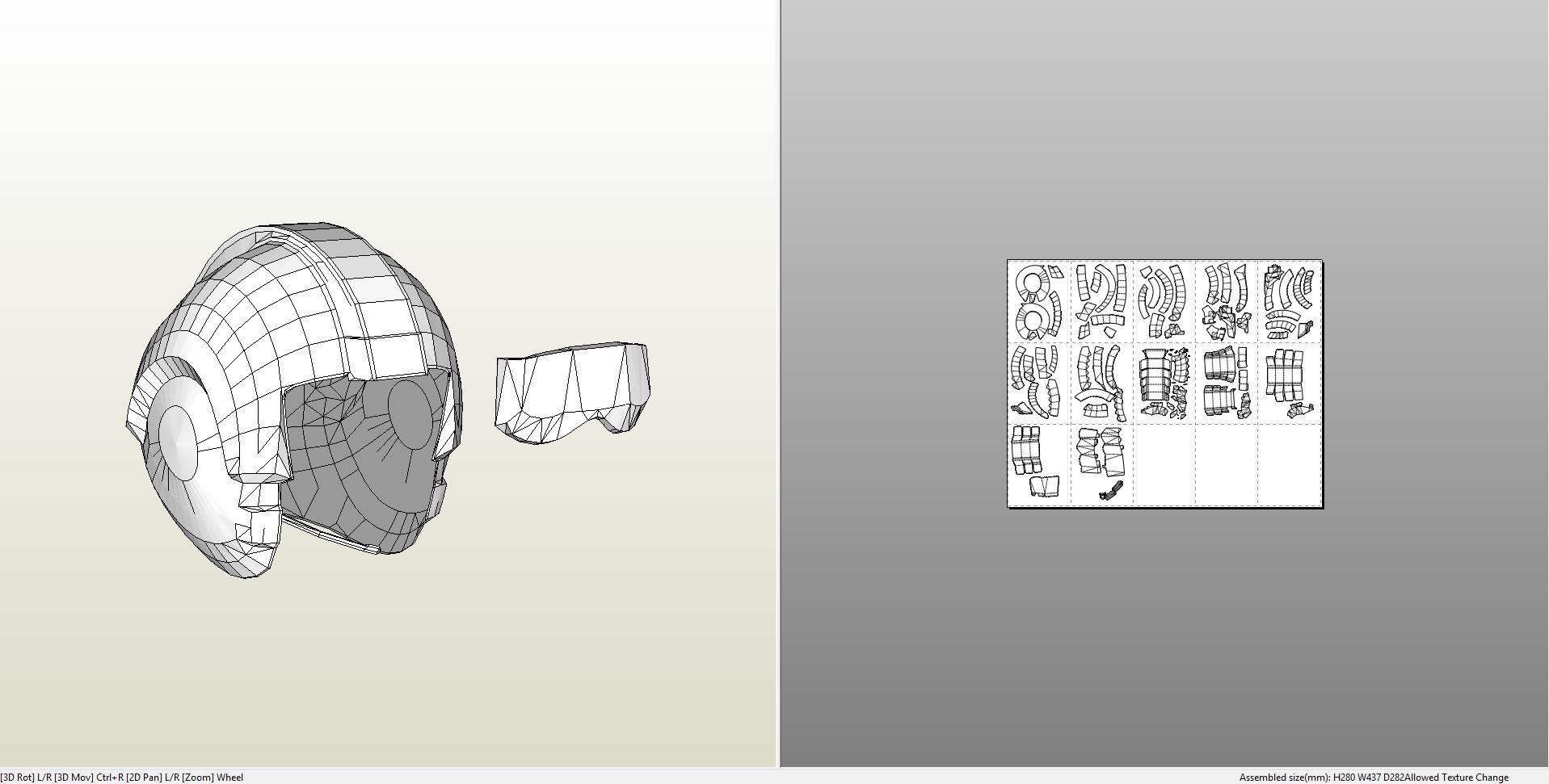 Titanfall Pilot Helmet Pepakura
