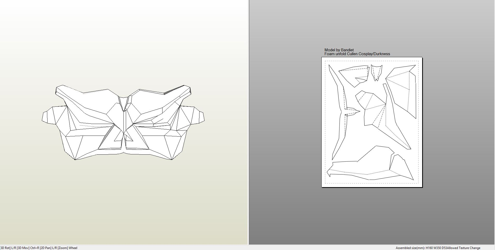 Papercraft Pdo File Template For Batman Arkham Knight Chest Plate