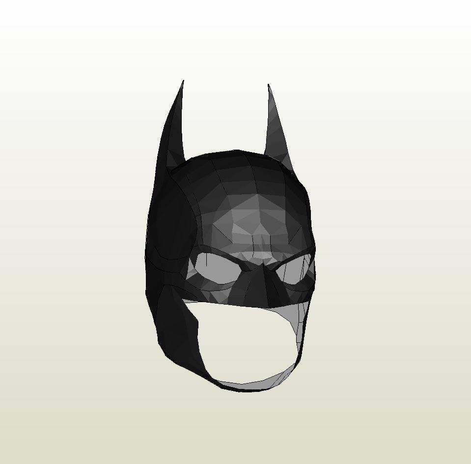 Foamcraft .pdo File Template For Batman Arkham Origins Mask