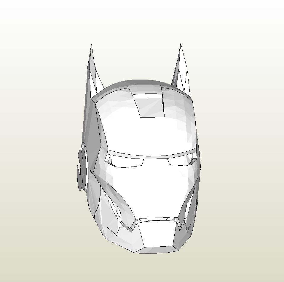 Papercraft pdo file template for iron man iron bat for Iron man foam armor templates