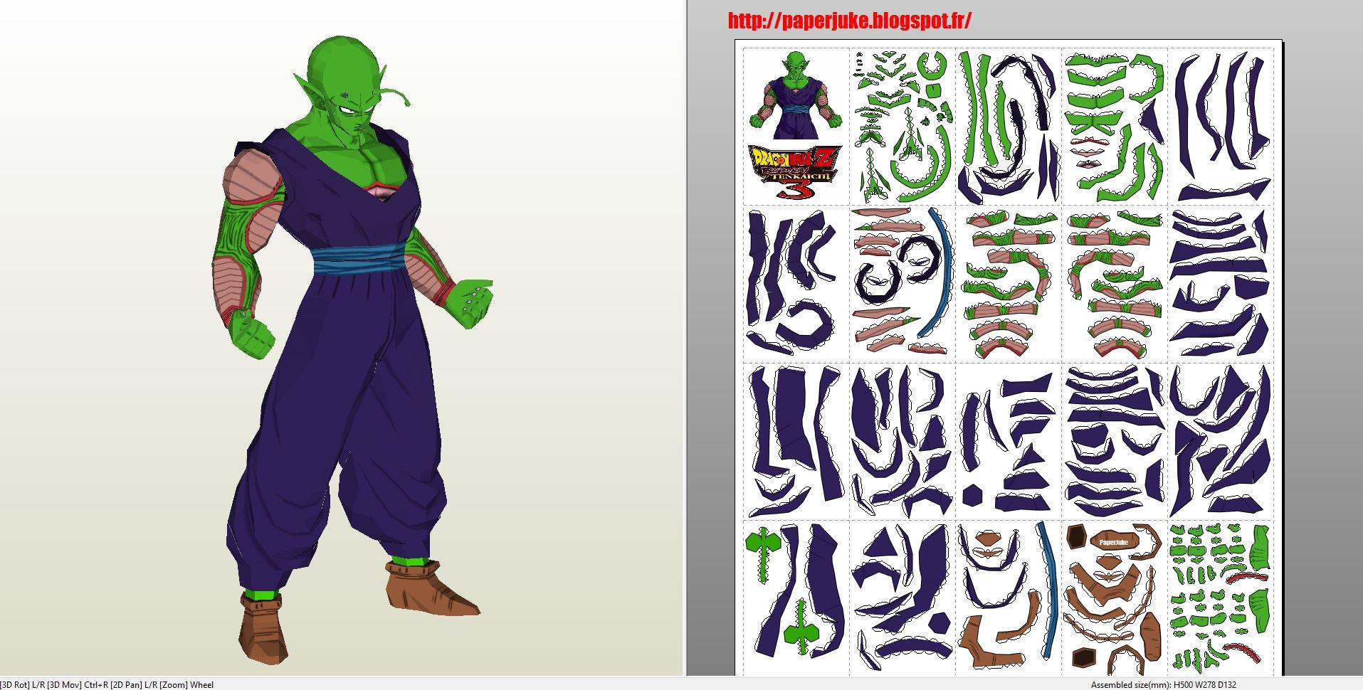 Papercraft .pdo file template for Dragonball - Picolo. - photo#35