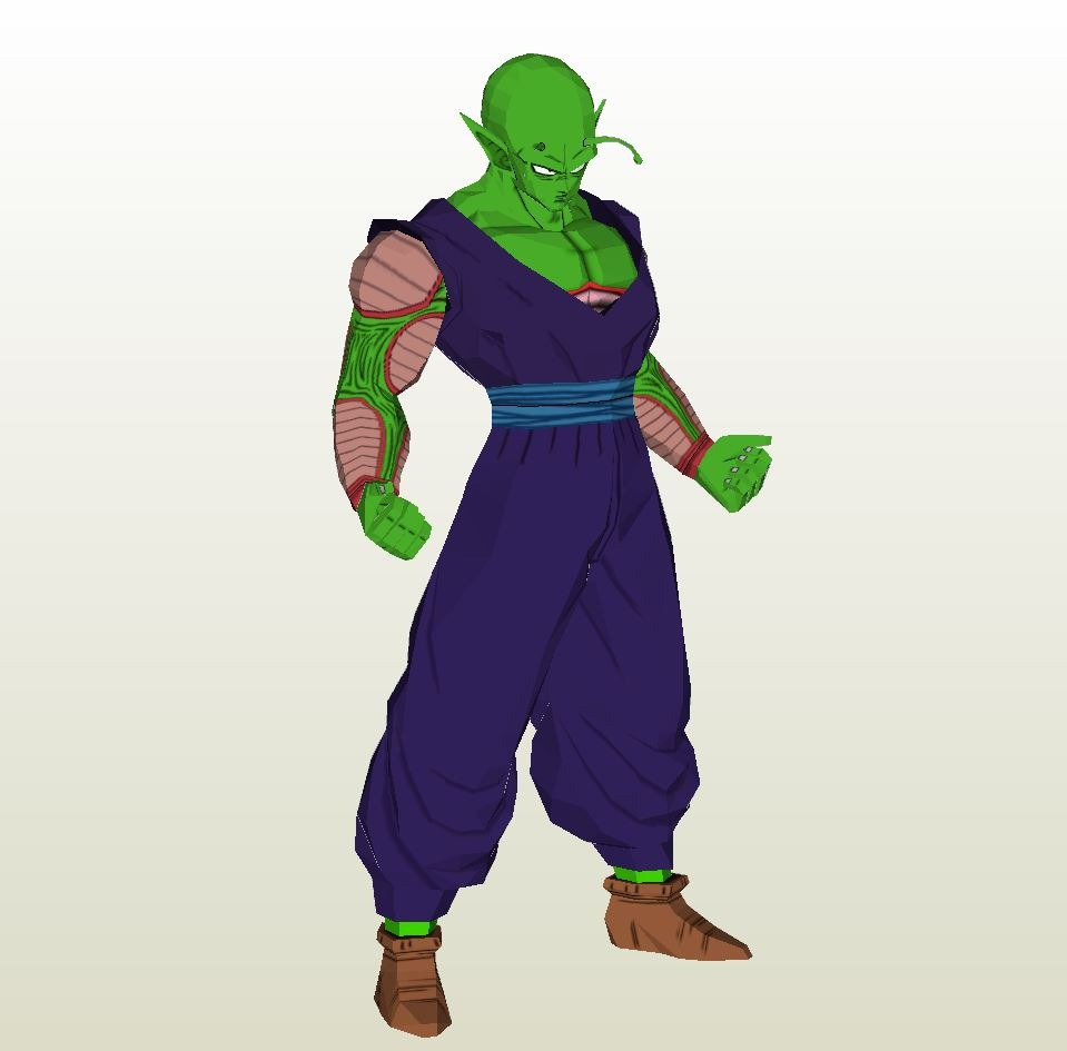 papercraft  pdo file template for dragonball