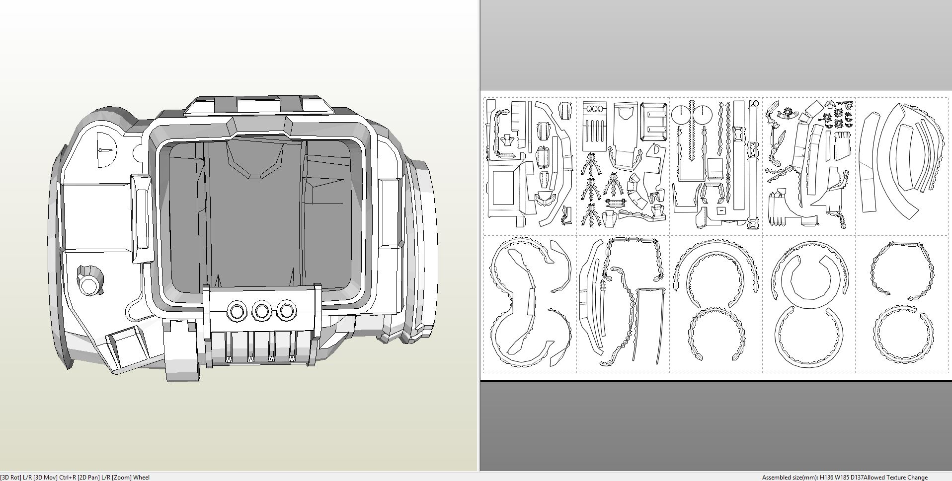 Papercraft  pdo file template for Fallout – Pip Boy 3000