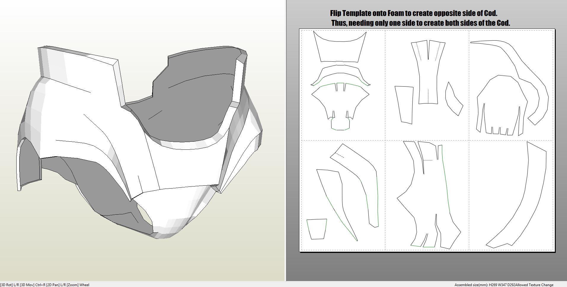 Foamcraft pdo file template for iron man mark 4 6 full armor mark6helmet neck shoulder biceps mark6chest mark4chest back abs cod tight shin pronofoot35fo Image collections