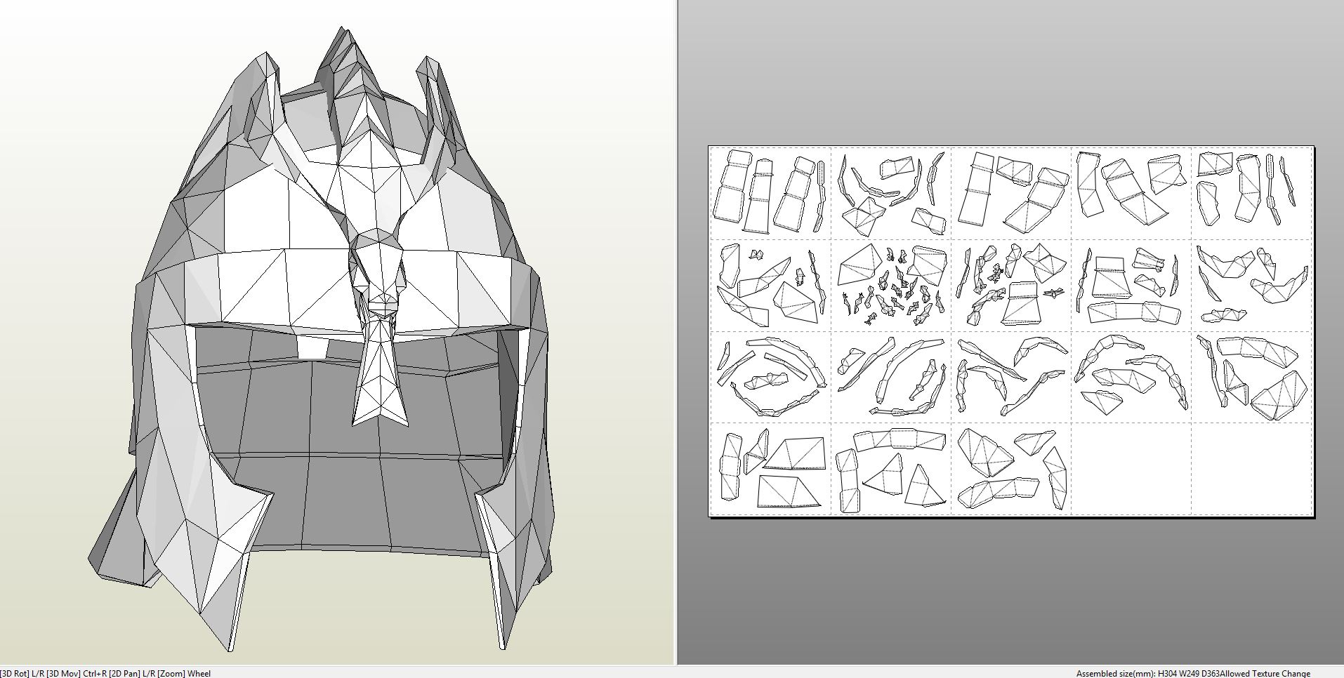Papercraft pdo file template for skyrim blades upper armor bladesmalehelm bladesmaleshoulder bladesmaletorso pronofoot35fo Image collections