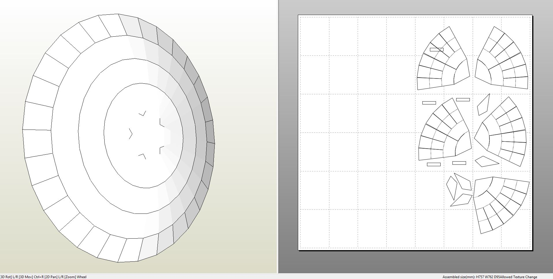 Foamcraft pdo file template for captain america shield foam captainamericashield pronofoot35fo Image collections