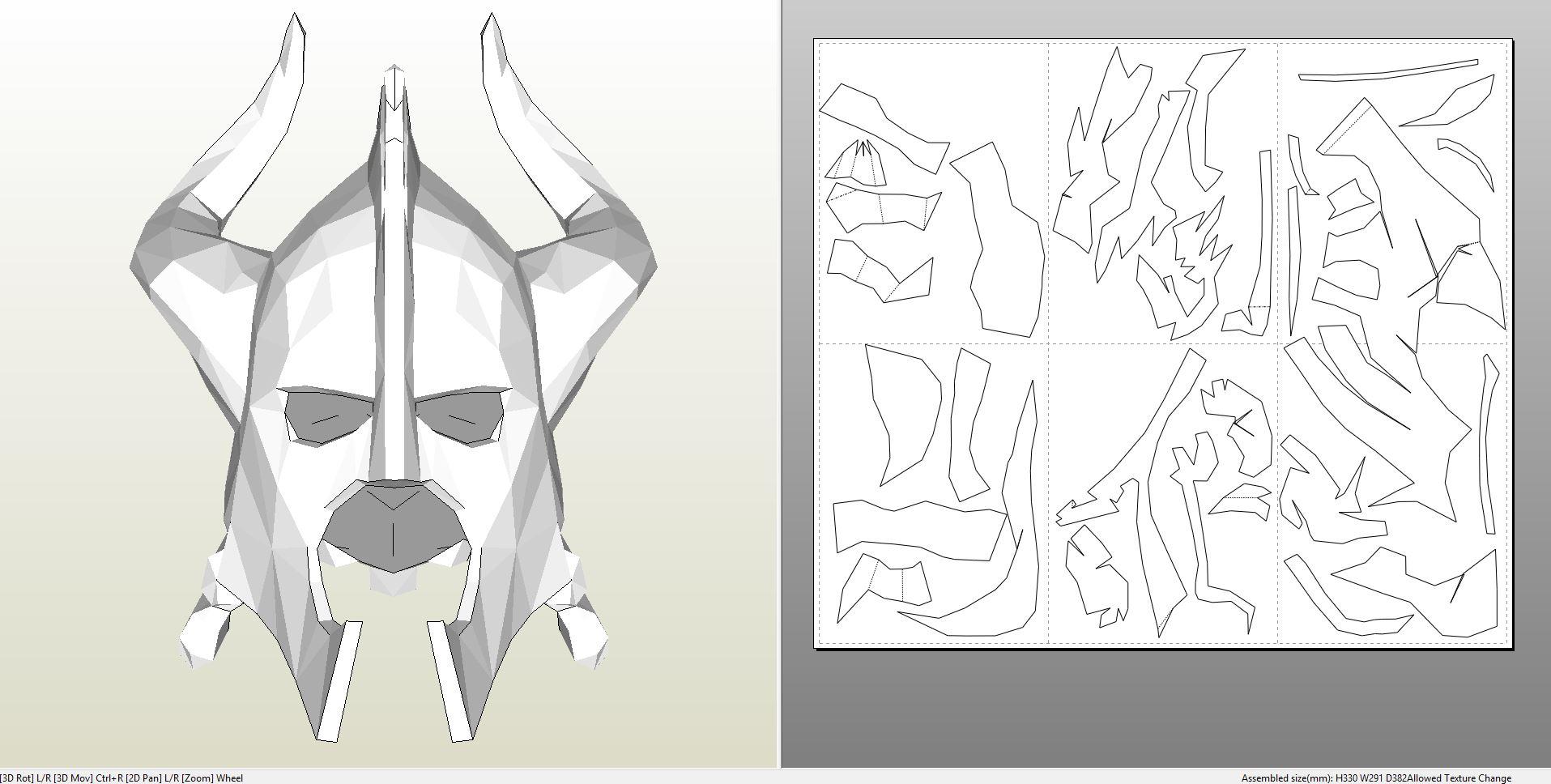Foamcraft pdo file template for skyrim dragonbone helmet foam dragonbonehelmetfoam pronofoot35fo Image collections