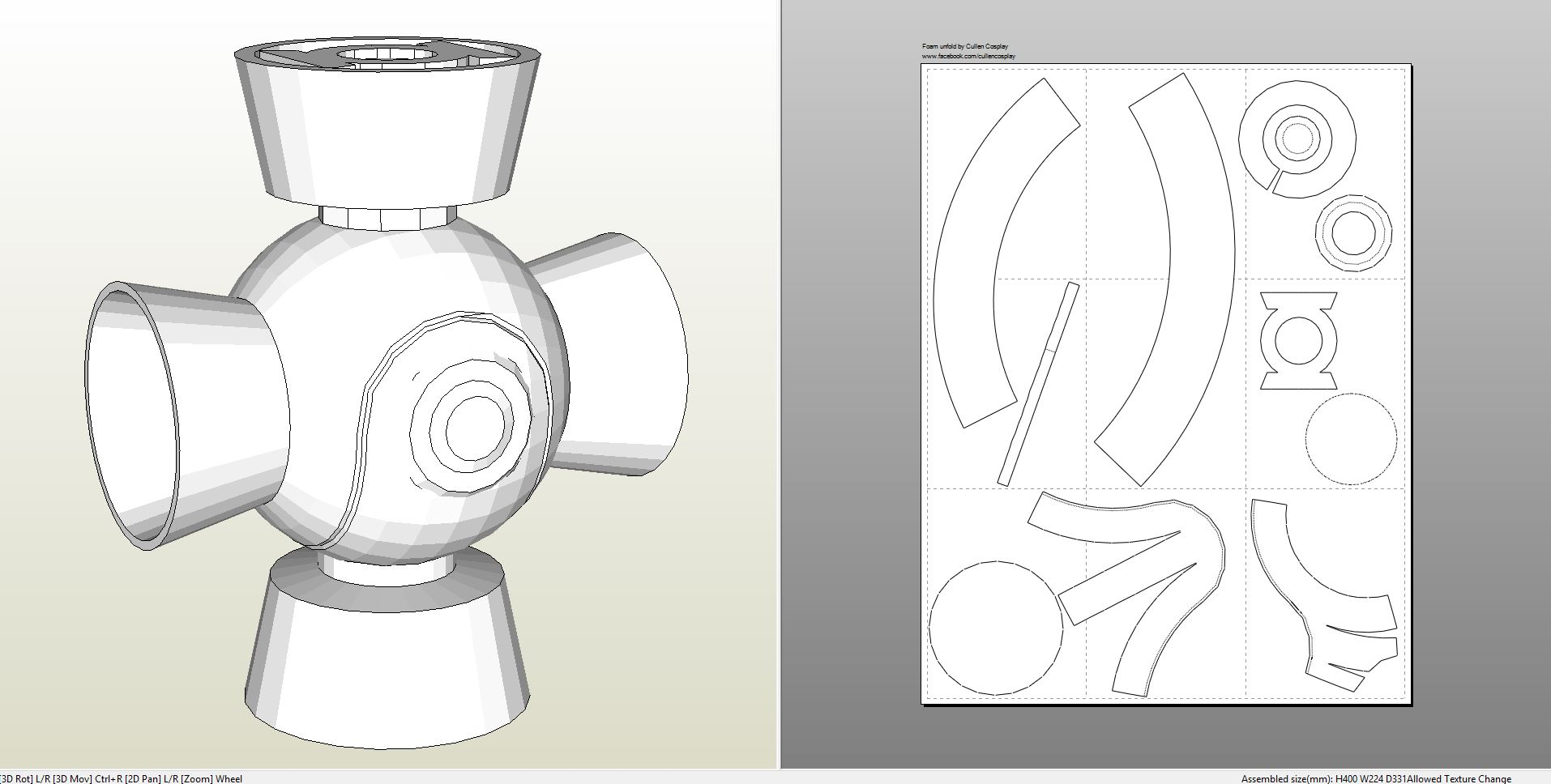 Foamcraft pdo file template for green lantern lantern foam greenlantern maxwellsz