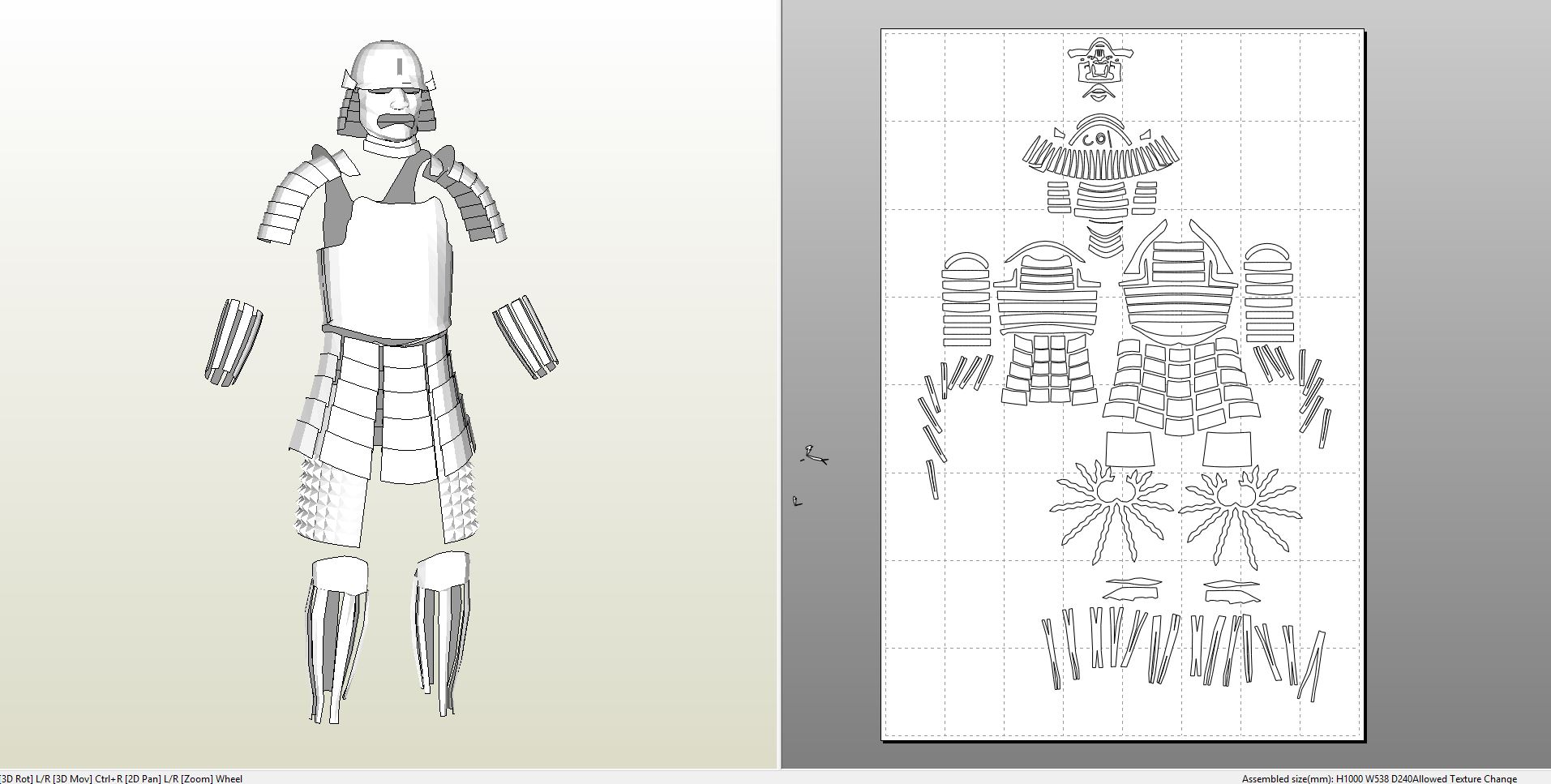 Foamcraft Pdo File Template For Armor Japanese Samurai Style