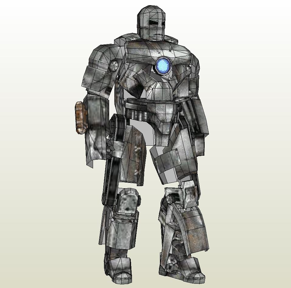 foamcraft  pdo file template for iron man