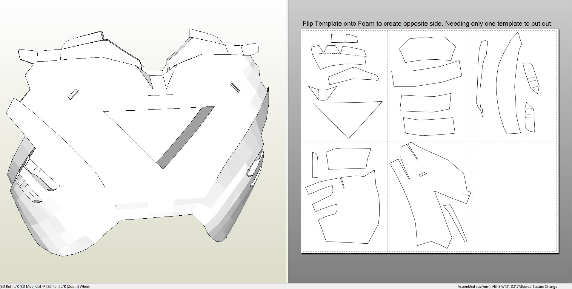 Foamcraft Pdo File Template For Iron Man Mark 4 6 Full Armor