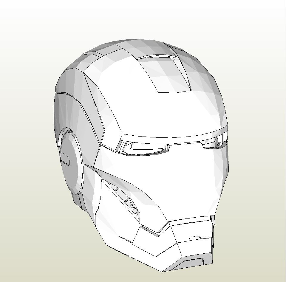 photograph relating to Iron Man Mask Printable identified as Foamcraft .pdo report template for Iron Male Mark 4 6 Entire