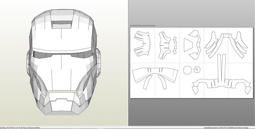 Foamcraft .pdo file template for Iron Man - Mark 7 Full ...  Iron