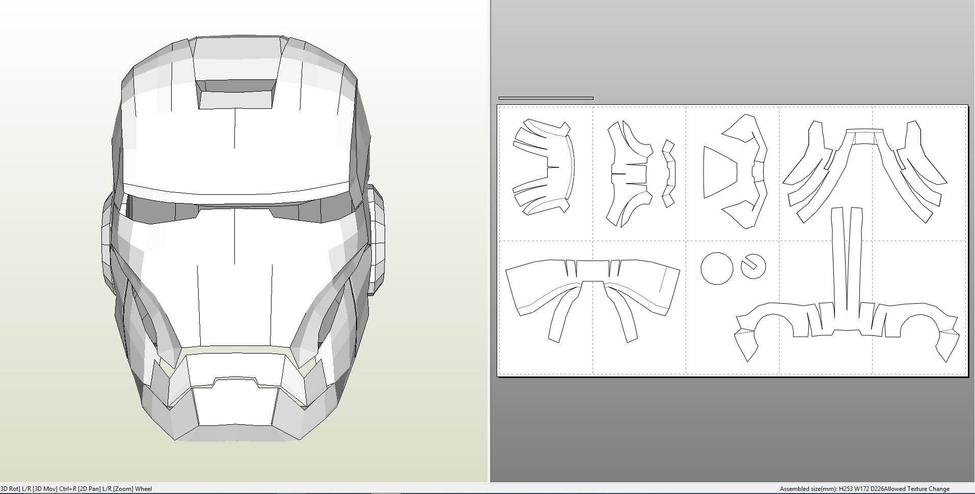 Foamcraft Pdo File Template For Iron Man Mark 7 Full Armor Foam