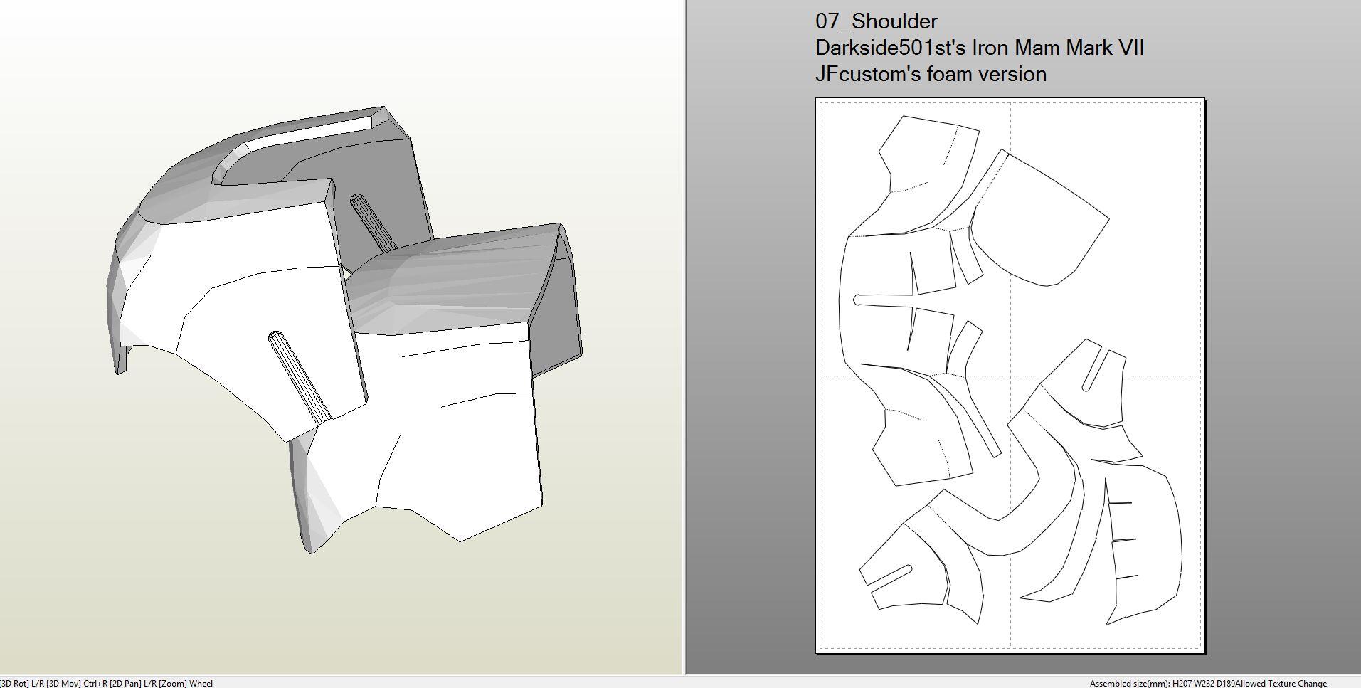 Foamcraft Pdo File Template For Iron Man Mark 7 Full Armor Foam