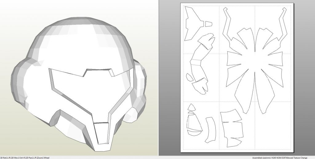 deathstroke armor template - foamcraft pdo file template for metroid prime samus