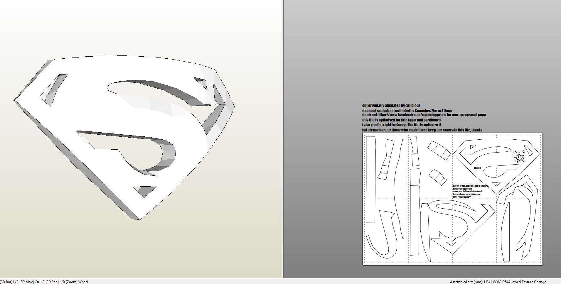 Foamcraft Pdo File Template For Superman Returns Logo Foam