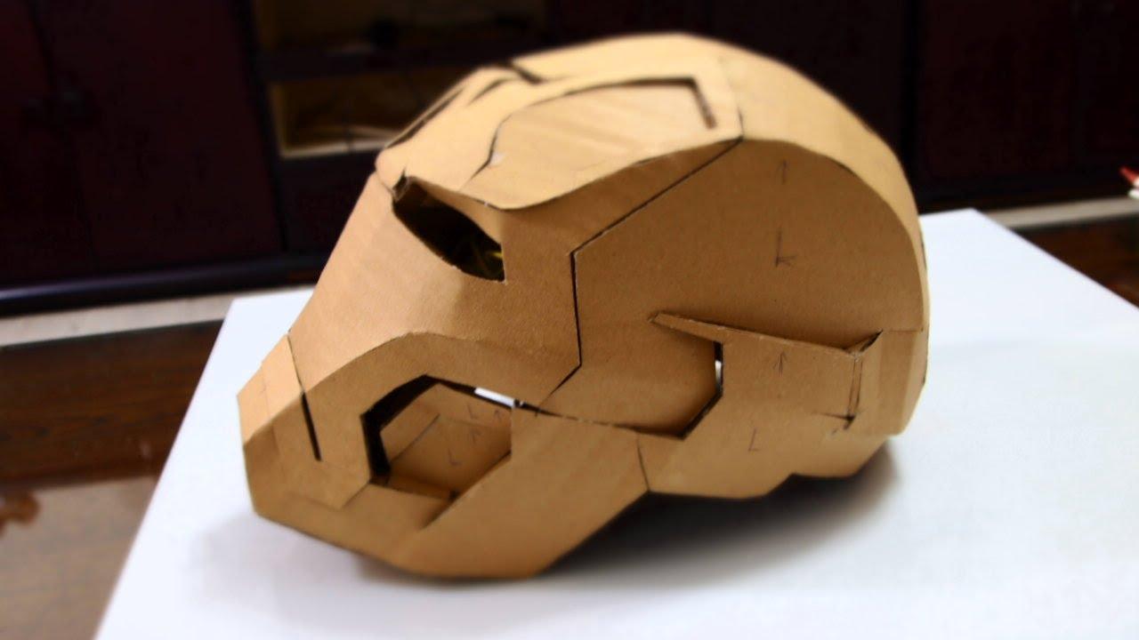 Tutorial Make Your Own Cardboard Iron Man Helmet