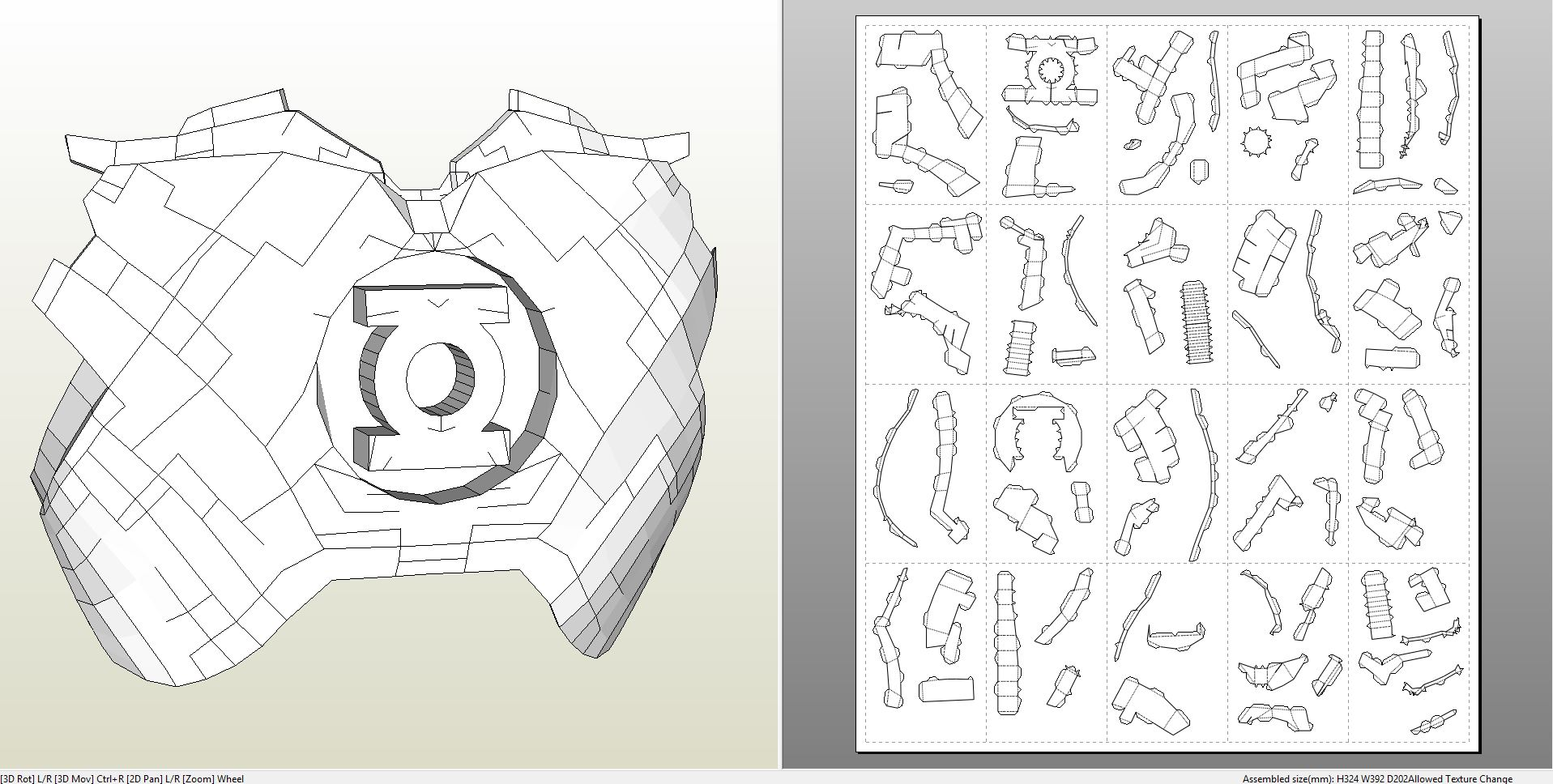 Papercraft Pdo File Template For Crossover Iron Lantern Chest